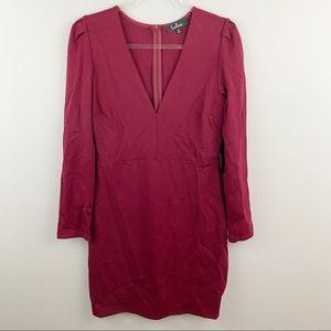 Lulu's • Burgundy V Neck Dress